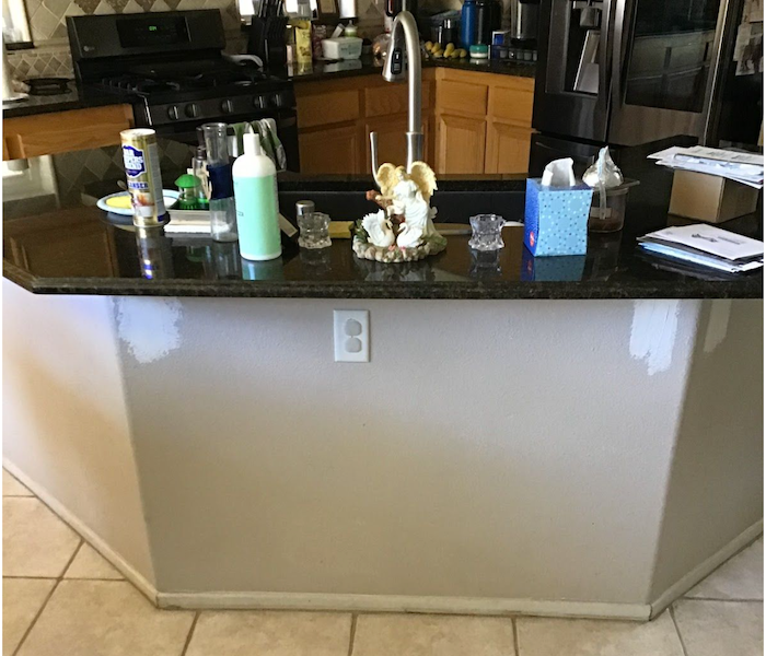 Island kitchen countertop