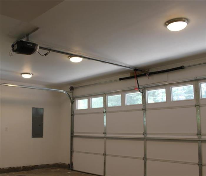 cleaned, painted and rebuilt garage, no evidence of fire damage
